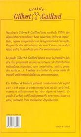 Guide gilbert et gaillard des vins - 4ème de couverture - Format classique