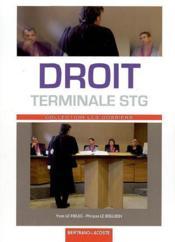 Droit ; terminale STG ; manuel de l'élève - Couverture - Format classique
