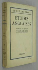 Etudes anglaises. Dickens. Walpole, Ruskin et Wilde. La jeune littérature. - Couverture - Format classique