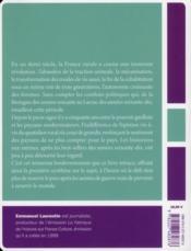 La France et ses paysans - 4ème de couverture - Format classique