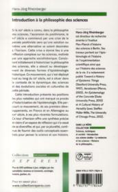 Introduction à la philosophie des sciences - 4ème de couverture - Format classique
