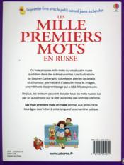 Les mille premiers mots en russe - 4ème de couverture - Format classique