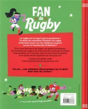 Fan de rugby - 4ème de couverture - Format classique