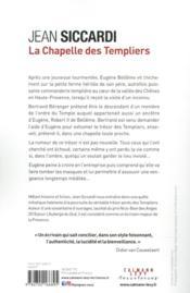 La chapelle des Templiers - 4ème de couverture - Format classique