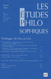 REVUE LES ETUDES PHILOSOPHIQUES N.2006/1 ; Heidegger, du nous au Geist - Couverture - Format classique