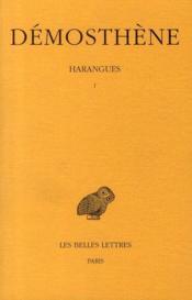 Harangues t.1 - Couverture - Format classique