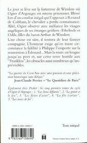 Cycle d'Ogier d'Argouges t.6 ; le jour des reines - 4ème de couverture - Format classique