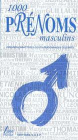 1000 prenoms masculins - Intérieur - Format classique