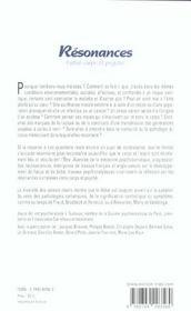Résonances entre corps et psyché - 4ème de couverture - Format classique