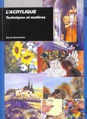 Acrylique Techniques Et Matieres - Intérieur - Format classique