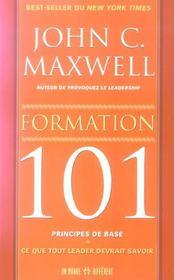 Formation 101 principes de base - ce que tout learder devrait savoir - Intérieur - Format classique