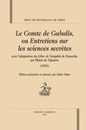 Le comte de Gabalis ou entretiens sur les sciences secretes - Couverture - Format classique