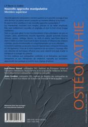 Nouvelle approche manipulative t.1 ; membre supérieur - 4ème de couverture - Format classique