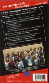 Les grands chefs du Routard (édition 2012) - 4ème de couverture - Format classique