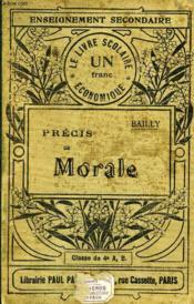 PRECIS DE MORALE, 1er CYCLE, CLASSE DE 4e A ET B - Couverture - Format classique