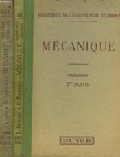 Complement Au Cours Elementaire De Mecanique Industrielle. En 2 Volumes. - Couverture - Format classique