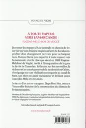 À toute vapeur vers Samarcande - 4ème de couverture - Format classique