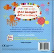 AVEC MON DOIGT ; mon imagier des animaux - 4ème de couverture - Format classique