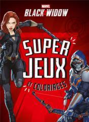 Black Widow ; super jeux et coloriages - Couverture - Format classique