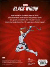 Black Widow ; super jeux et coloriages - 4ème de couverture - Format classique