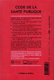 Code de la santé publique, annoté et commenté en ligne (édition 2021) (édition 2021) - 4ème de couverture - Format classique