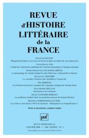 Revue D'Histoire Litteraire De La France N.2006/1 - Couverture - Format classique