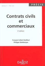 Contrats Civils Et Commerciaux 4e Edition - Intérieur - Format classique