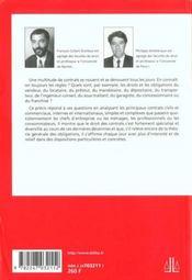 Contrats Civils Et Commerciaux 4e Edition - 4ème de couverture - Format classique