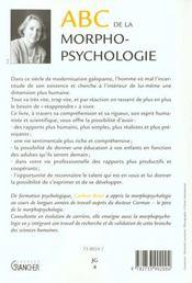 Abc De Morphopsychologie - 4ème de couverture - Format classique