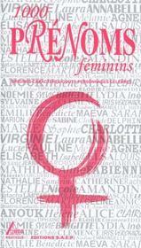 1000 prenoms feminins - Intérieur - Format classique