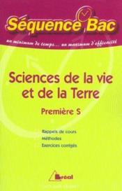 Sciences de la vie et de la terre 1ere s - Couverture - Format classique