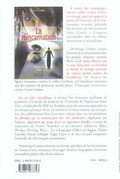 Reincarnation - 4ème de couverture - Format classique