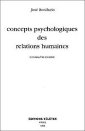 Concepts Psychologiques Des Relations Humaines - Couverture - Format classique