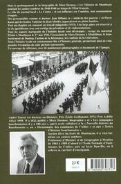 Montluçon 1940-1944 ; la mémoire retrouvée - 4ème de couverture - Format classique