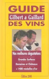 Guide des vins gilbert et gaillard 2006 - Intérieur - Format classique