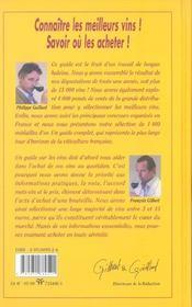 Guide des vins gilbert et gaillard 2006 - 4ème de couverture - Format classique