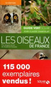 Guide vert des oiseaux de France - Couverture - Format classique