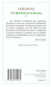 Don Quichotte de la Manche t.1 - 4ème de couverture - Format classique