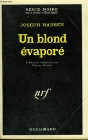 Un Blond Evapore. Collection : Serie Noire N° 1408 - Couverture - Format classique