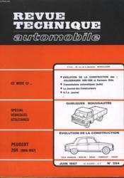 Revue Technique Automobile - N°254 - Couverture - Format classique