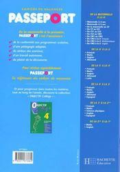 Passeport - 4ème de couverture - Format classique