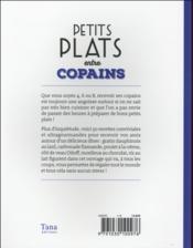 Petits plats entre copains - 4ème de couverture - Format classique