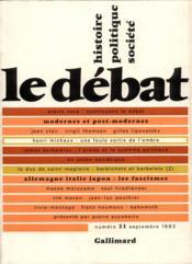 Revue Le Débat N.21 - Couverture - Format classique