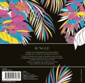 Jungle ; bloc de coloriage black premium - 4ème de couverture - Format classique
