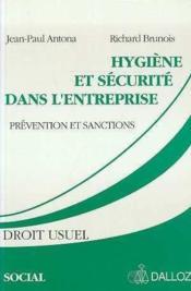 Hygiene et securite dans l'entreprise - Couverture - Format classique