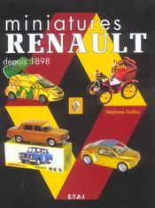 Miniatures Renault Depuis 1898 - Intérieur - Format classique