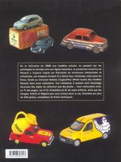 Miniatures Renault Depuis 1898 - 4ème de couverture - Format classique