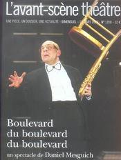Revue L'Avant-Scene Theatre ; Boulevard Du Boulevard Du Boulevard - Intérieur - Format classique