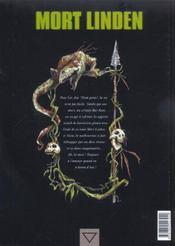 Mort Linden T.3 ; Bestiaux - 4ème de couverture - Format classique