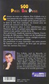 500 Pensees Bien Pansees - 4ème de couverture - Format classique